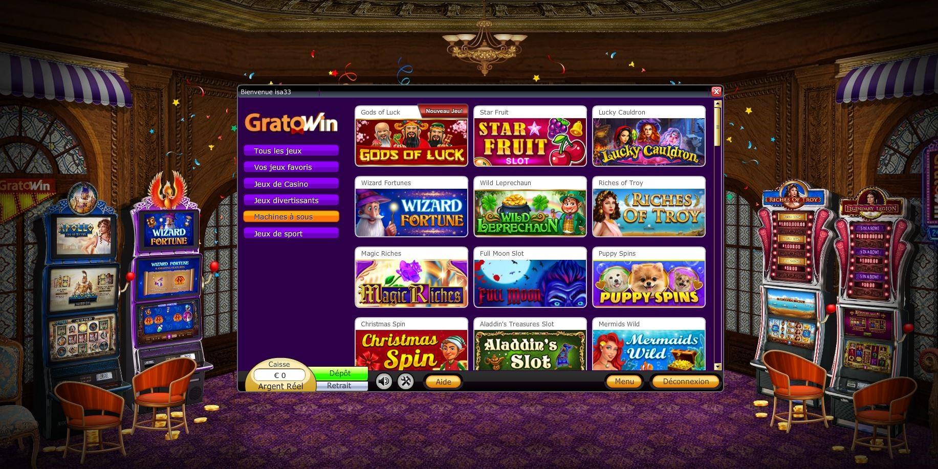 bonus gratowin casino